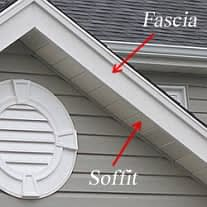 Diagram showing soffit and fascia