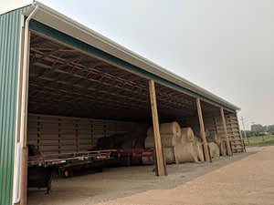 104 foot gutter on barn