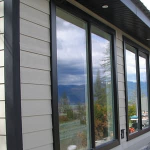 Hardi Siding with Black window trims and black corners
