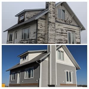 Old farm house renovation north of Airdrie